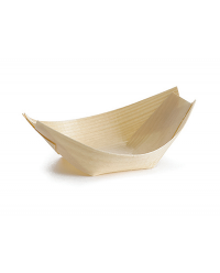Disposable Wood Boat (12 x 5cm) x 50