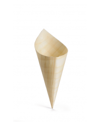 Disposable Wood Cone (5 x 15cm) x 50