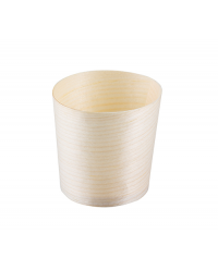 Tablecraft BAMDCP1 Disposable Wood Cup (6.5 x 6.5cm) x 50