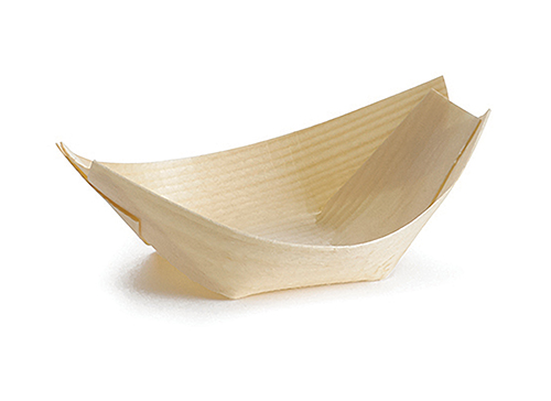 Disposable Wood Boat (13.5 x 8.5cm) x 50