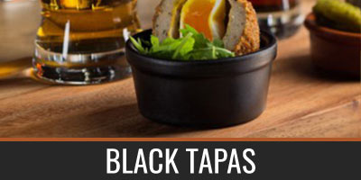 Black Tapas Crockery