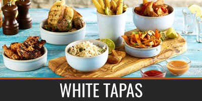 White Tapas Dishes