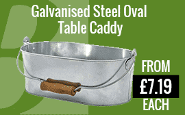 Galvanised Steel Oval Table Caddy