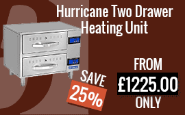 Hurricane Two Drawer Heating Unit