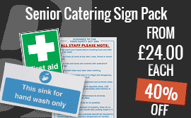 Senior Catering Sign Pack